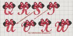 Resultado de imagem para alfabeto de minnie pintura tecido
