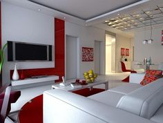 Modern day Living Room Decor Ideas | Red floor, Living rooms and ...
