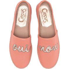 Circus by Sam Edelman Leni 19 (Peach (Oui (€28) ❤ liked on Polyvore featuring shoes, sandals, orange, orange sandals, peach sandals, slip on sandals, peach shoes and slip on espadrilles