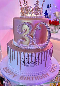 birthday cake for women / birthday cake & birthday cake for women & birthday cake ideas & birthday cakes for men & birthday cake decorating & birthday cake kids & birthday cake recipe & birthday cake for boys Queens Birthday Cake, 19th Birthday Cakes, Sweet 16 Birthday Cake, Beautiful Birthday Cakes, Birthday Cakes For Women, Birthday Cake Girls, 18th Birthday Cake Designs, 13th Birthday, Happy Birthday