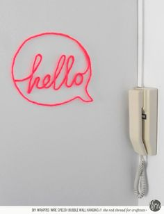 Wire-Wrapped Word for Your Wall // CraftTuts+ via Creature Comforts