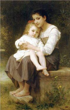 The elder sister - William-Adolphe Bouguereau