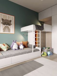 32 Ideas Kids Room Loft Bed Boys For 2019 - All For Decorations Baby Room Boy, Baby Bedroom, Girl Room, Kids Bedroom, Bedroom Decor, Decor Room, Bedroom Small, Bedroom Loft, Small Rooms