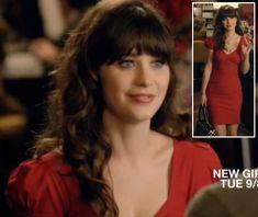 Jess's red bodycon dress