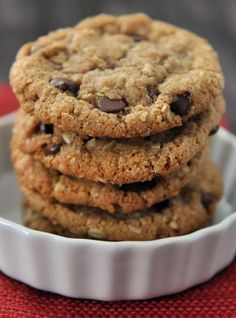 """Coconut Oil Whole Wheat Chocolate Chip Cookies (""""tastes kind of like Great Harvest's cookies."""")"""