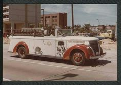 Baltimore, MD - reconditioned vintage fire truck.