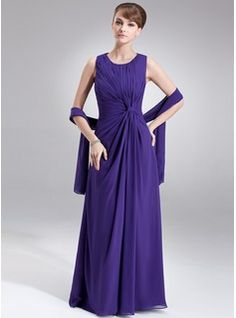 Mother of the Bride Dresses - $146.99 - A-Line/Princess Scoop Neck Floor-Length Chiffon Mother of the Bride Dress With Ruffle  http://www.dressfirst.com/A-Line-Princess-Scoop-Neck-Floor-Length-Chiffon-Mother-Of-The-Bride-Dress-With-Ruffle-008005977-g5977