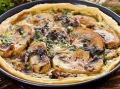Пирог с белыми грибами и мясом