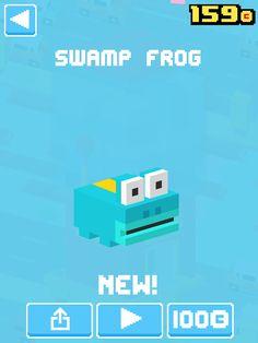 Just unlocked Swamp Frog! #crossyroad