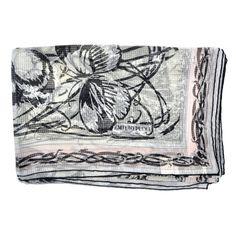 New Emilio Pucci Scarf Light Pink Butterfly - Chiffon Silk Shawl | Sale Women Designer Scarves | Como Milano #pucciscarf #emiliopucci