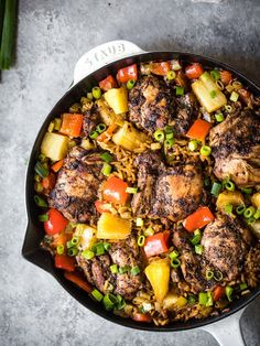 Caribbean Jerk Chicken with Coconut Rice | Ambitious Kitchen Clean Eating Recipes, Healthy Dinner Recipes, Healthy Eating, Cooking Recipes, Eating Clean, Healthy Cooking, Smoker Recipes, Healthy Breakfasts, Kitchen Recipes