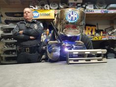 You can never be too safe always have somebody watching your back when you welding cold hard art security force