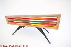 Sideboard with candy colors