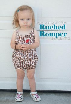 Ruched Romper Free Sewing Pattern
