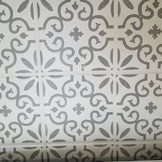 Paint Colors For Living Room, Room Paint, Traditional Tile, Large Stencils, Stenciled Floor, Types Of Painting, Stencil Designs, Upcycled Furniture, Repeating Patterns