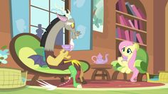 Discord and Fluttershy in 'My Little Pony: Friendship is Magic' / Hasbro / Discovery Family