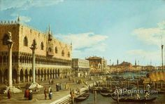 Giovanni Antonio Canal (called Canaletto),Venice, The Riva Degli Schiavoni oil painting reproductions for sale