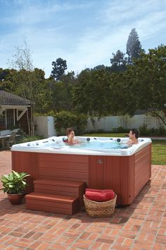 The Caldera #Spa Makena™ is a full-featured, full-sized lounge spa model. The #hottub features 46 jets, 12 points-of-light, a backlit Acquarella® waterfall, and seating for up to 6 adults. Pure style, comfort, and design.