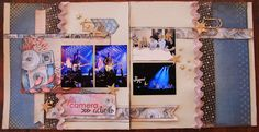 kerrie gurney : Lights Camera Action Double Page Layout | Celebr8
