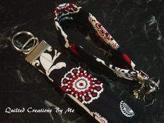 Fabric Key Fob Wristlet By QuiltedCreationsByMe