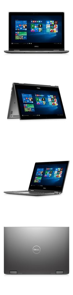 Computers Tablets Networking: Dell I5368-0027Gry 13.3 Fhd 2-In-1 Laptop 2.1Ghz Processor, 4 Gb Ram, 500 Gb Hd BUY IT NOW ONLY: $407.15