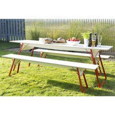 Table et bancs pliants outdoor SET4SIX type Biergarten - LAPADD - objets de lutte contre les contraintes du quotidien LAPADD.com