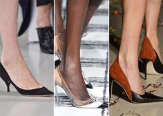 Thin heels or thick, pumps were one of the biggest fall 2015 shoe trends to hit the stage and we cannot help but jump with joy for it. From the pink coral colored Vivienne Westwood pieces to white based Nina Ricci simplistic tones, Balenciaga's bejewelled cap toes to Celine's dazzling designs with the beading and the embellishments, classic pumps quite often made an appearance on the runway shaping one of the most timeless shoe trends for fall 2015.