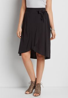 skirt with side tie (original price, $34.00) available at #Maurices