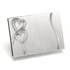 Sparkling Heart Wedding Guest Book is perfect for your wedding or anniversary reception! This brushed silver heart guest book has a rhinestone-studded heart design. Guest Book Sign, Wedding Guest Book, Wedding Day, Guest Books, Wedding Ceremony, Reception, Wedding Gifts For Guests, Wedding Favors, Wedding Decor