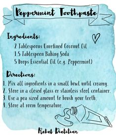 Top Oral Health Advice To Keep Your Teeth Healthy – Best Teeth Whitening Techinque Toothpaste Recipe, Homemade Toothpaste, Natural Toothpaste, Natural Teeth Whitening, Homemade Beauty Products, Diy Cleaning Products, Natural Products, Household Products, Bath Products