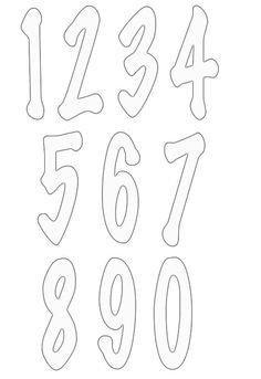 numbers clipart image 7 #FONTS #TYPOGRAPHY