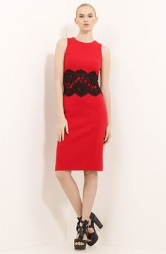 Michael Kors Lace Detail Bouclé Dress available at Nordstrom