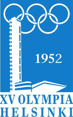 July 1952 – The 1952 Summer Olympics, officially known as the Games of the XV Olympiad, open in Helsinki, Finland Helsinki, Winter Olympic Games, Winter Games, Summer Games, 2010 Winter Olympics, Summer Olympics, Scandinavian Poster, Olympic Logo, Game Logo Design