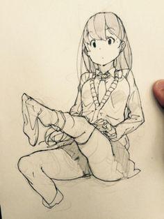 黑白线稿(473图)_@あらしの製造收集_花瓣插画/漫画