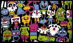 Doodle rug by Jon Burgerman