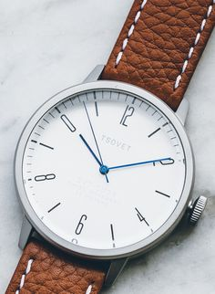 Classic Detailing + Leather Band = Timeless Watch Style