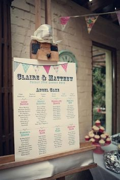 bunting table plan, image by Assassynation