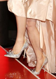 Lily James Jimmy Choo shoes - 'Cinderella' premiere at 65th Berlin International Film Festival