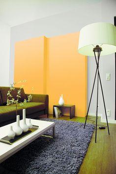 Fesselnd Orangetöne Im Wohnzimmer Wirken Warm Und Aktivierend. Ideal Für Gesellige  Stunden.