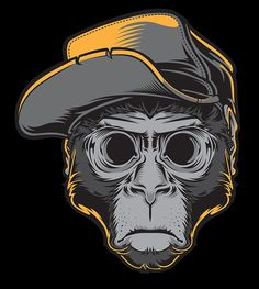 his name is Monky, he just an ordinary monkey until he blackout.....