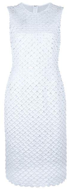 STELLA MCCARTNEY | White Scalloped Fitted Dress ($1,595)
