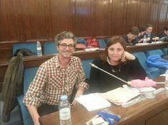 2014 José Luis Salas (IES Almina)  y Almudena Fdez Asensio (IES Luis de Camoens) en IV Encuentro eTwinning de profesores en castellano 'HablArte'