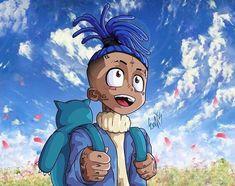 Dope Cartoons, Dope Cartoon Art, Cartoon Art Styles, Cartoon Pics, Cartoon Drawings, Travis Scott Iphone Wallpaper, Supreme Iphone Wallpaper, Anime Rapper, Rapper Art