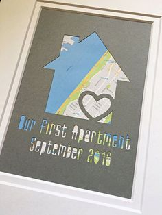 Our First Apartment New Apartment Art First Place by HandmadeHQ