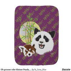 Ob grosser oder kleiner Panda, beide sind trollig Baby Spucktuch Beide, Pot Holders, Baby, La Luna, Pandas, Red Panda, Hot Pads, Potholders, Infants