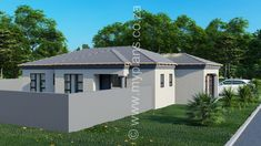 3 Bedroom House Plan MLB 008.1S - My Building Plans South Africa My Building, Building Plans, Architect Fees, Guest Toilet, My House Plans, Construction Drawings, Bedroom House Plans, Open Plan Living, Windows And Doors