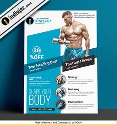 Free Fitness and Gym Freebie PSD Flyer Template Fitness Flyer, Free Fitness, Free Flyer Templates, Night Club, Flyer Design, Fun Workouts, Photoshop, Gym, Marketing