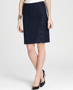 $98.00 - Petite Tweed Zip A- Line Mini Skirt