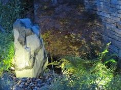 Make a splashing impact with a modest garden water feature and create a unique soothing atmosphere with great calming effects. Garden Water, Water Features In The Garden, Garden Landscaping, Landscapes, Design Ideas, Rock, Front Yard Landscaping, Paisajes, Scenery