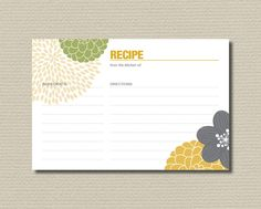 Print out recipe cards with logo on it.